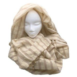 Gold Oversized Scarf - Striped, Shimmer, Shawl